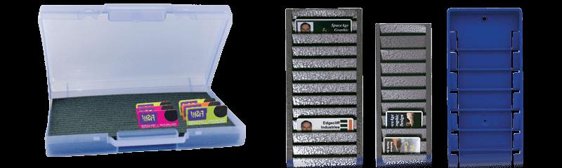 Espositori e contenitori per il trasporto di badge