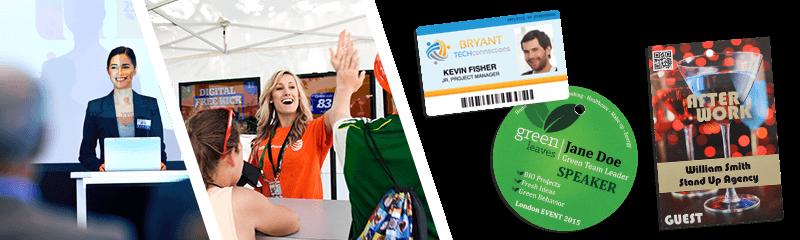 Badge per conferenze ed eventi