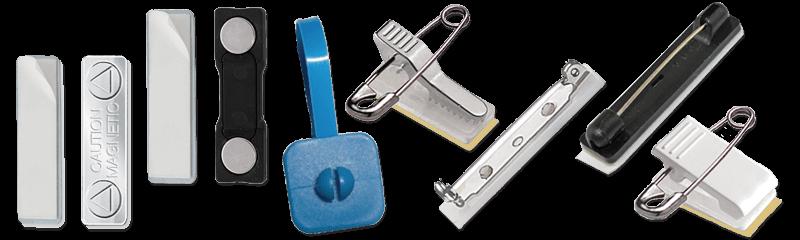 Dispositivi di fissaggio e fascette per badge