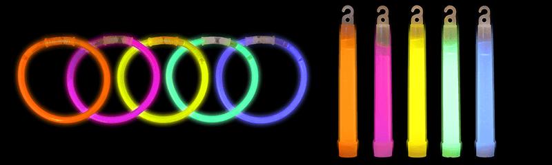 Braccialetti e bastoncini luminosi