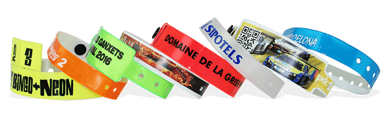 Braccialetti personalizzabili in vinile