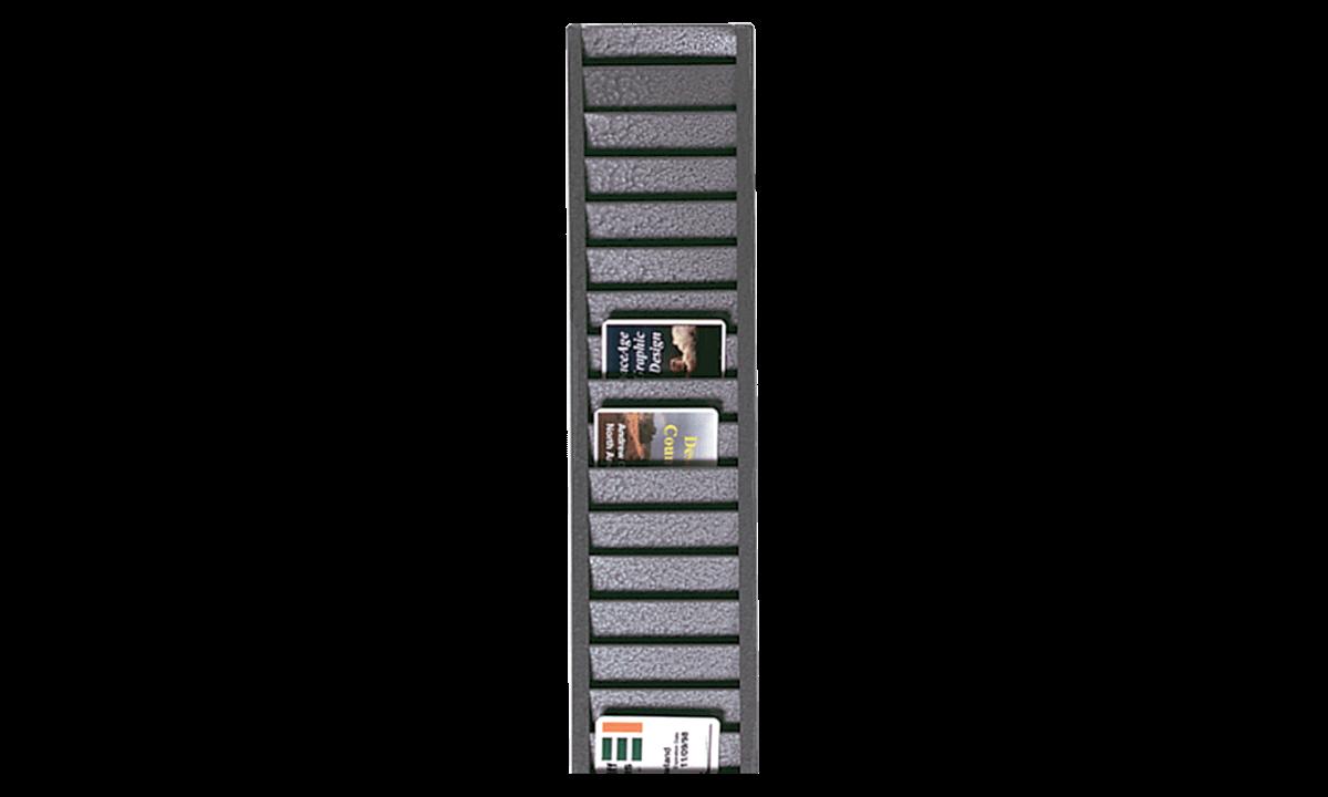 Rastrelliera portabadge in metallo (capacità: 40 carte/tessere in verticale)