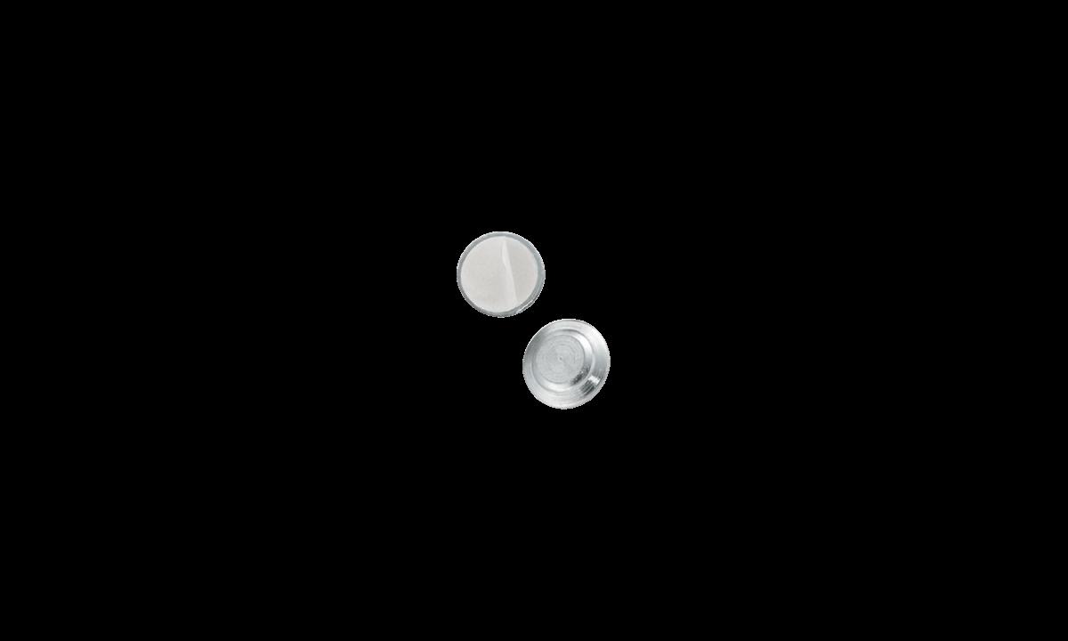 Attacco magnetico adesivo - rivestimento rotondo in metallo