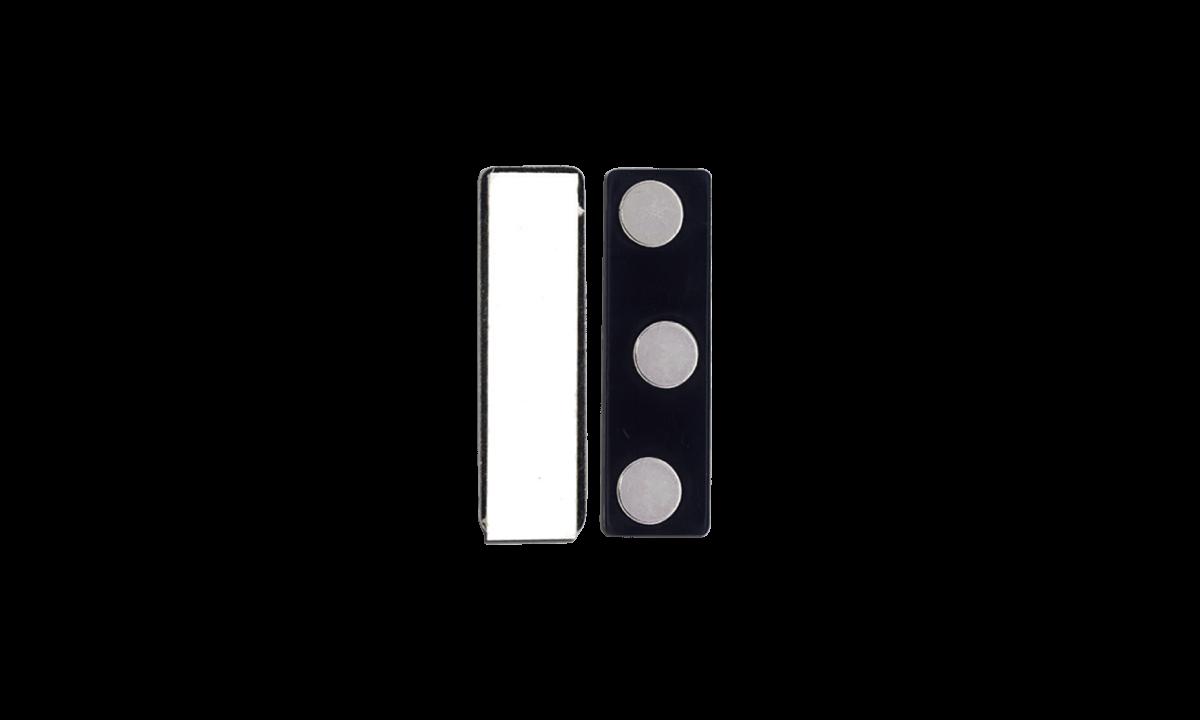 Attacco magnetico adesivo - rivestimento in plastica (3 calamite)