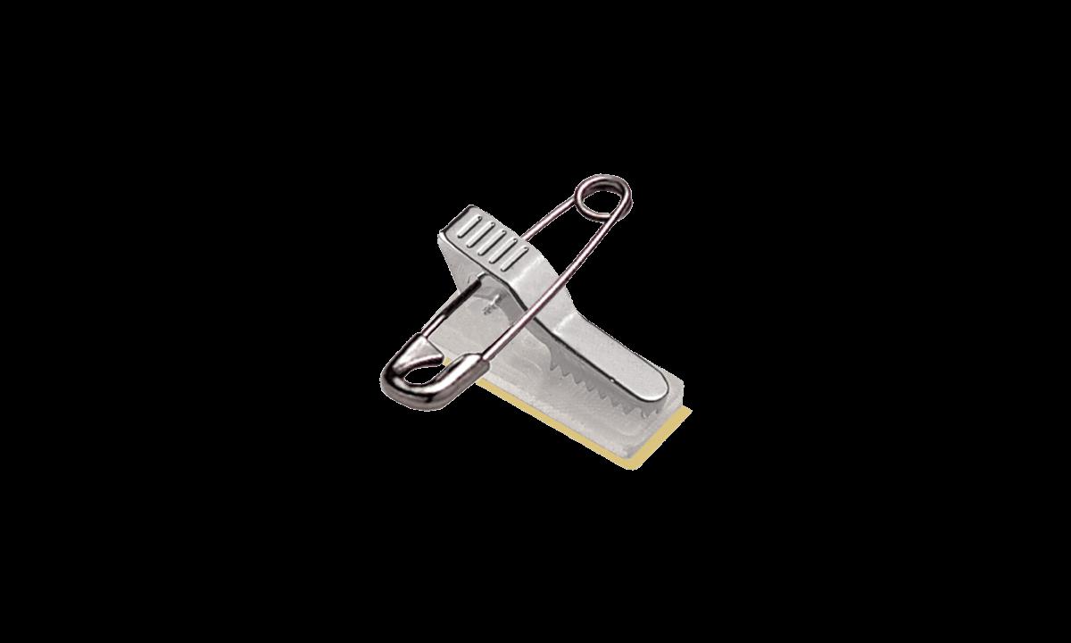 Combinato spilla/clip con nastro in schiuma