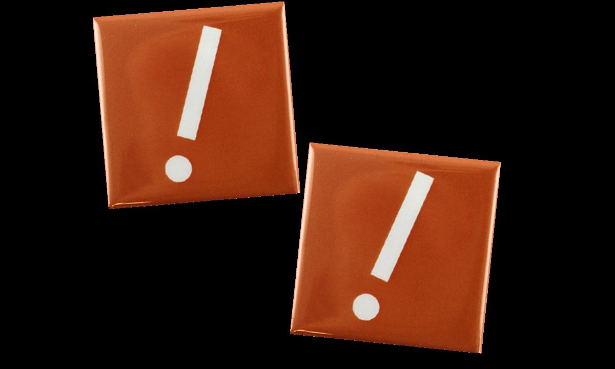 Badge a bottone 40x40mm, quadrato