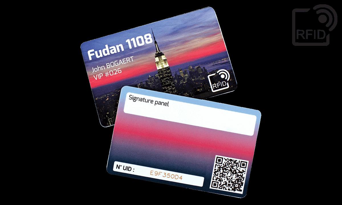 Carte RFID personalizzabili 86x54 mm - Fudan 1108
