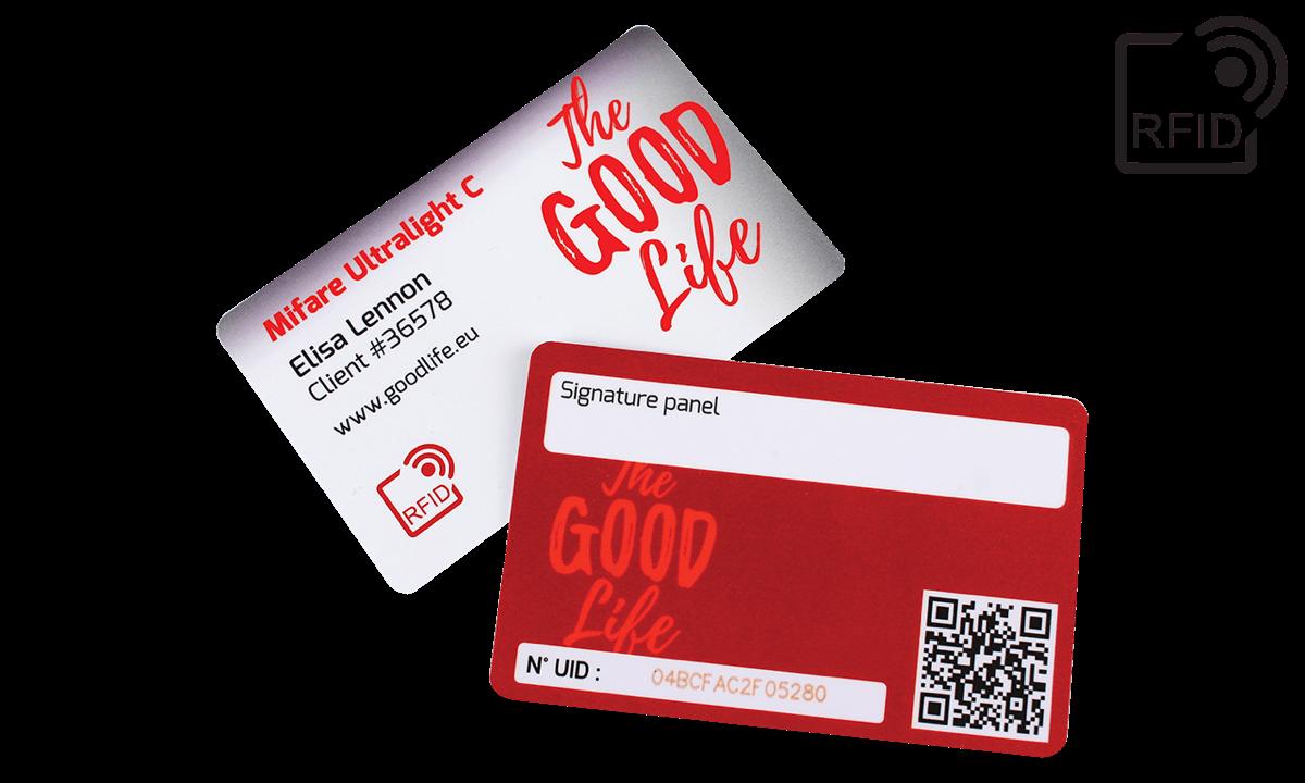 Carte RFID personalizzabili 86x54 mm - Mifare UltraLight C