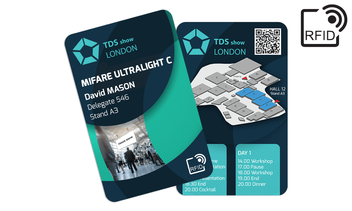 Carte RFID personalizzabili 133x85 mm - Mifare UltraLight C