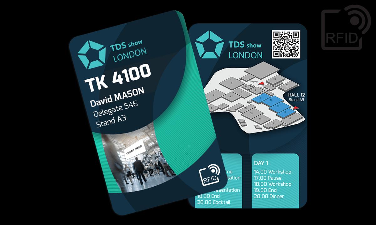 Carte RFID personalizzabili 133x85 mm - TK 4100