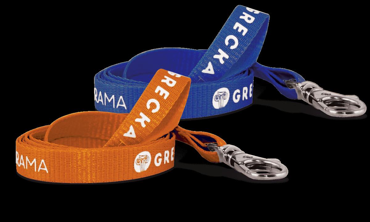 Laccetti porta-badge personalizzati di 10mm- 1 colore di stampa