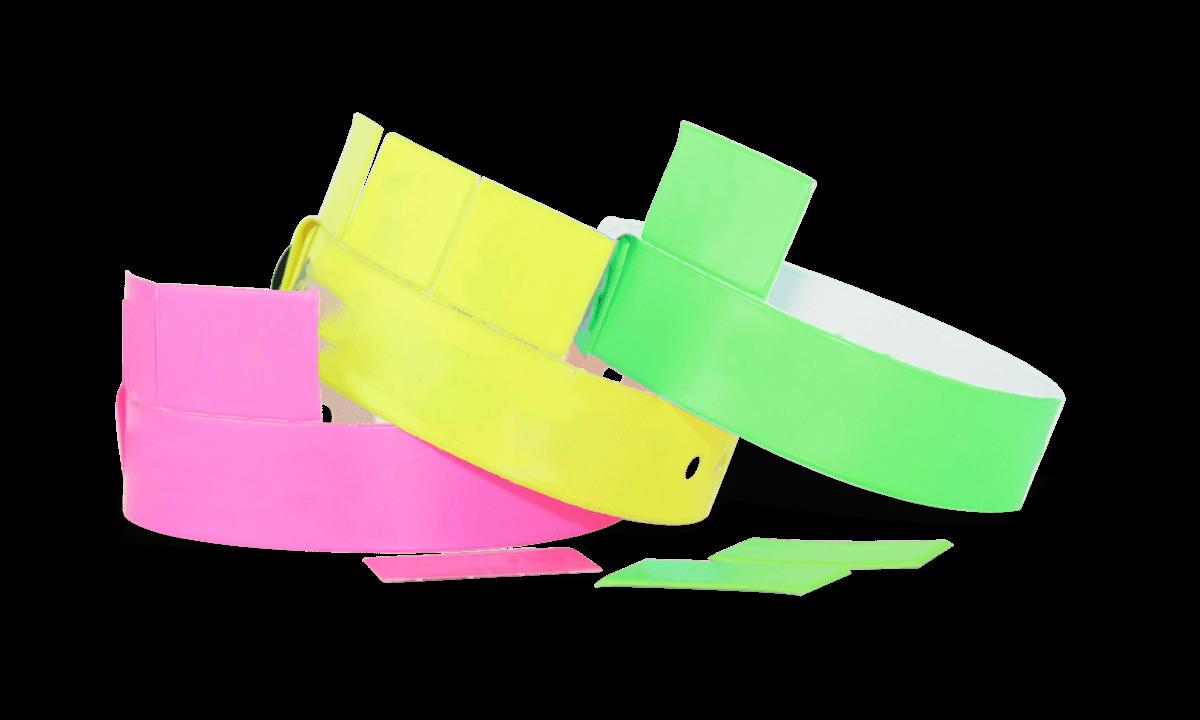 Braccialetti a tre tagliandi in vinile senza personalizzazione 19 mm