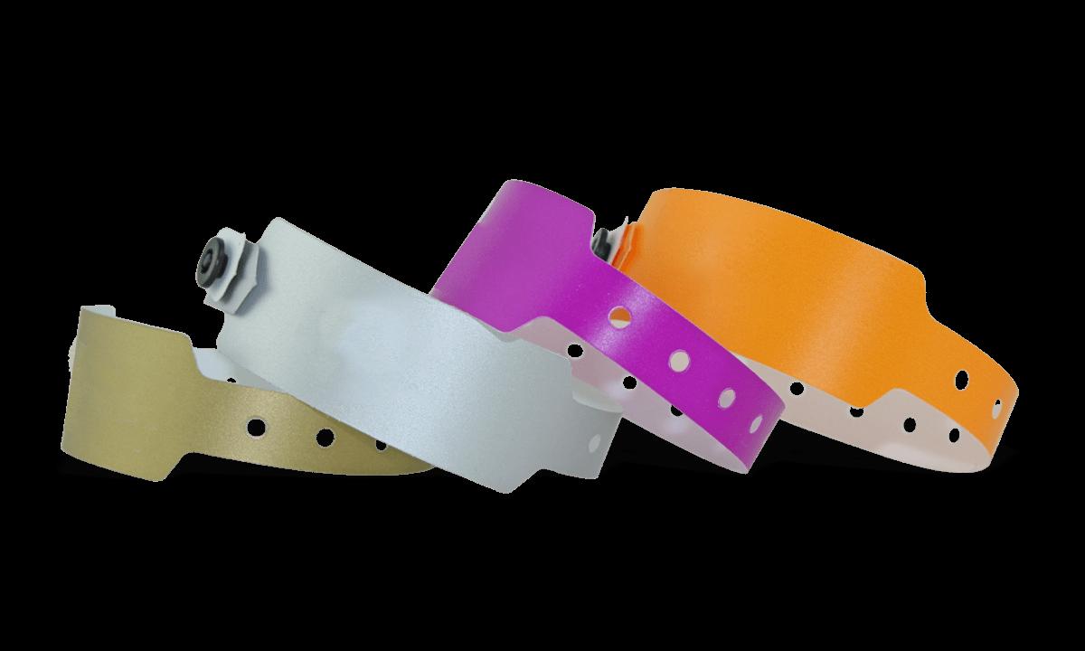 Braccialetti in plastica senza personalizzazione 25 mm