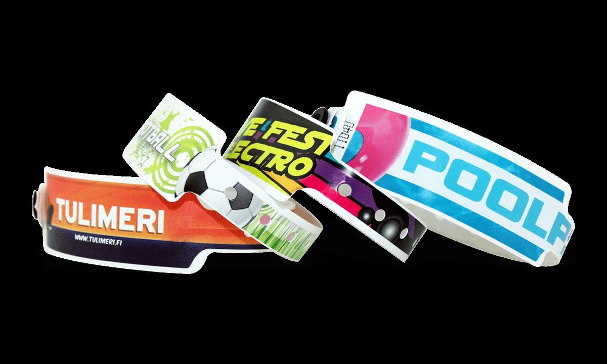 Braccialetti formato ampio in plastica personalizzabili con stampa fotografica 25 mm