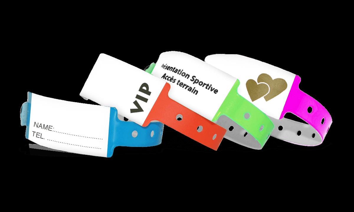 Braccialetti in vinile scrivibile personalizzabili 25 mm