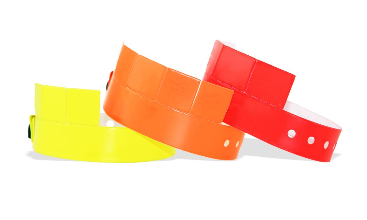 Braccialetti a cinque tagliandi in vinile senza personalizzazione 19 mm
