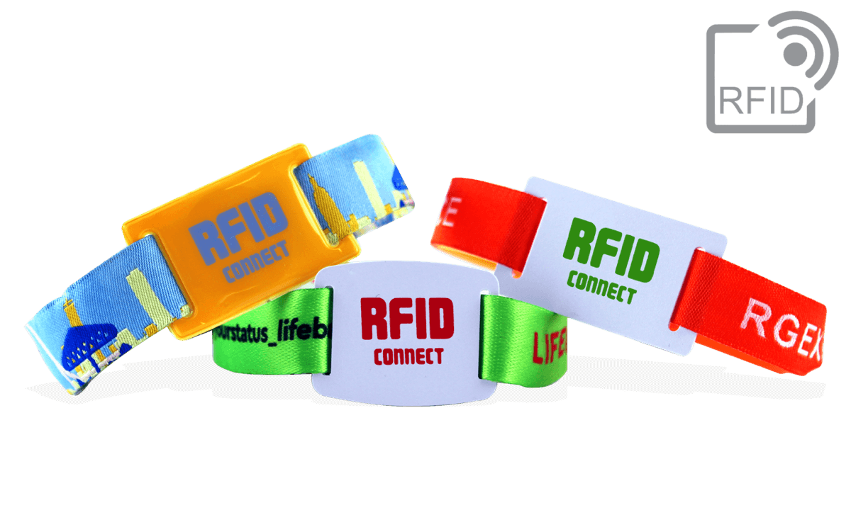 Braccialetti RFID in tessuto PDC Smart® con guida per chip