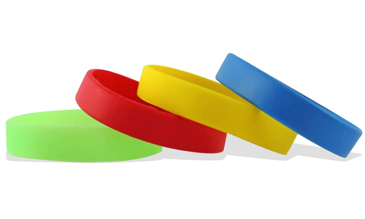 Braccialetti in silicone senza personalizzazione, Formato adulto (articoli di magazzino)