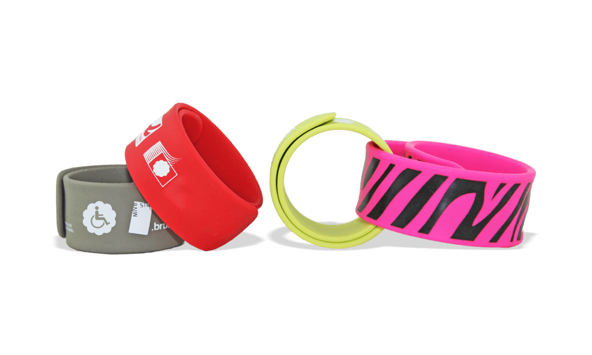Braccialetti Rollband in silicone personalizzabili, 30 x 270 mm