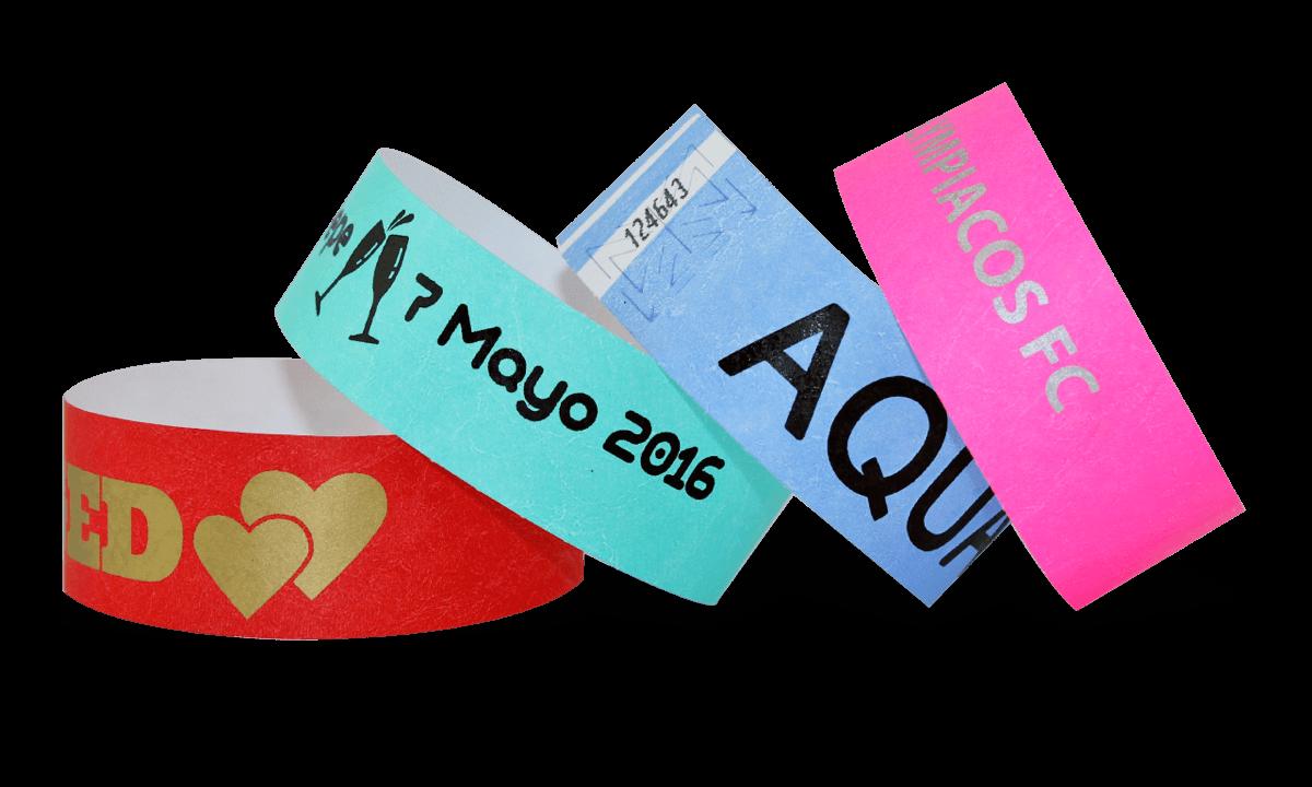 Braccialetti in Tyvek personalizzabili con stampa a un colore 25 mm