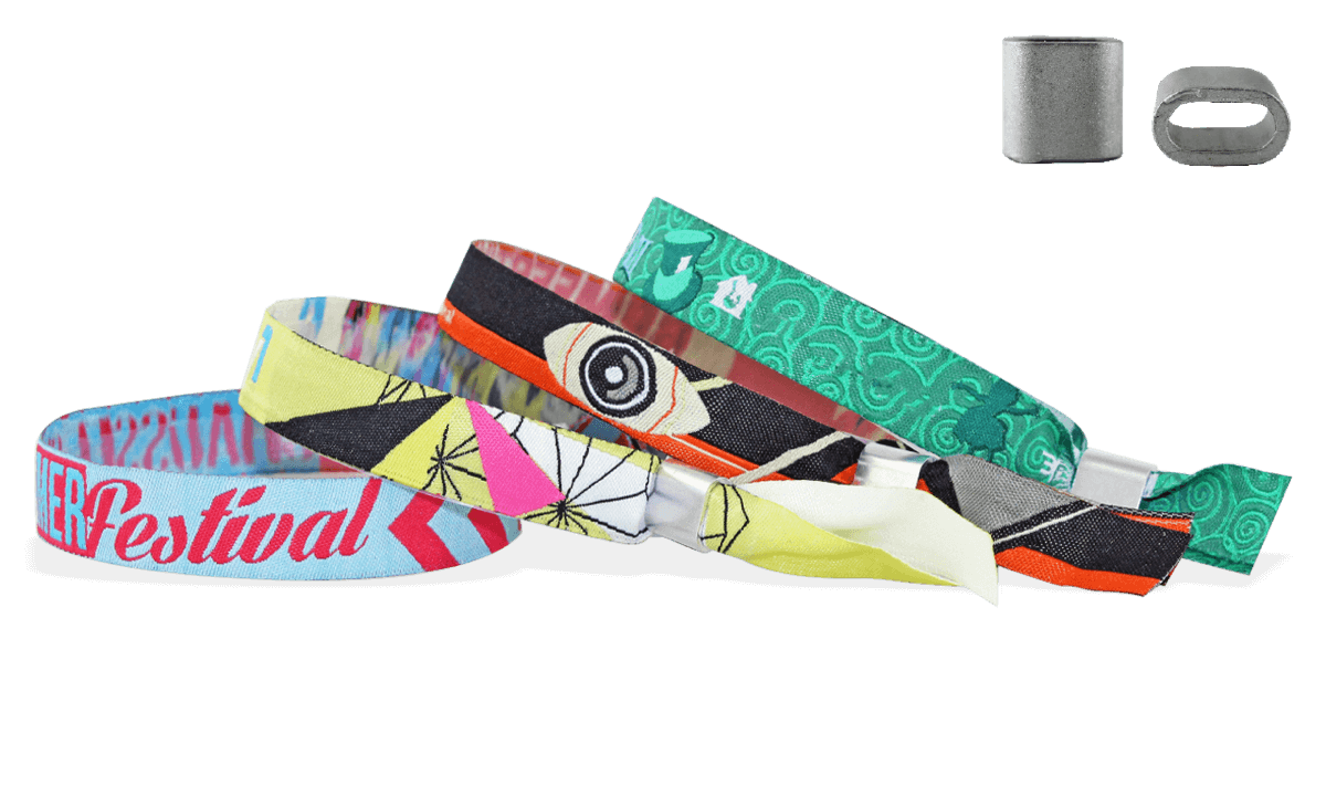Braccialetti in tessuto Ricamato personalizzabili, chiusura piatta in metallo Honolulu