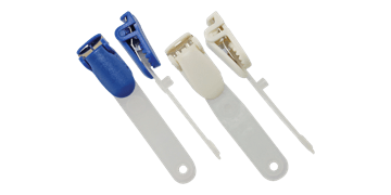 Clip a bretella colorata in nylon modellato