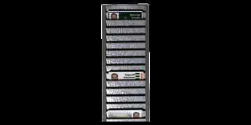 Rastrelliera portabadge in metallo (capacità: 40 carte/tessere in orizzontale)