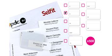 Inserto Selfit due linee, 70 x 18 mm, Bianco, 500 Inserti