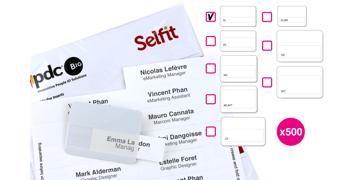 Inserto Selfit una linea, 70 x 12 mm, Bianco, 500 Inserti