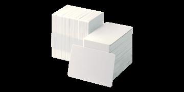 Tessera non personalizzata in PVC bianco - 250 mic