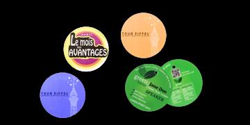 Badge per eventi rotondo 57 mm (PVC)