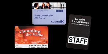 Badge per eventi 95x62 mm (PVC)