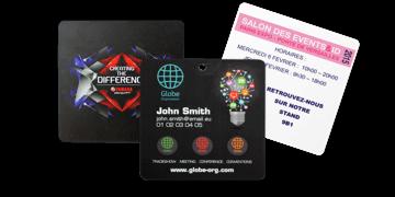 Badge per eventi 95x98 mm (PVC)