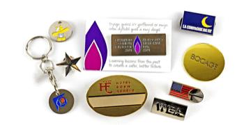 Badge in metallo finitura smalto soft