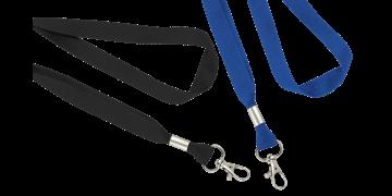 Laccetti porta-badge piatti di 16mm con gancio a scatto