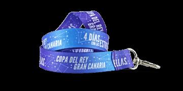 Laccetti porta-badge satin personalizzati di 25mm - Stampa in quadricromia