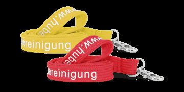 Laccetti porta badge tubolari personalizzati di 15mm - 1 colore di stampa