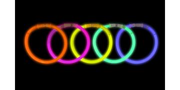 Braccialetti luminosi - colori assortiti