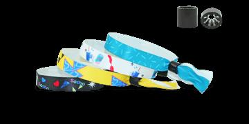 Braccialetti personalizzabili in morbido raso, Chiusura Oslo a cilindro Non Riutilizzabile