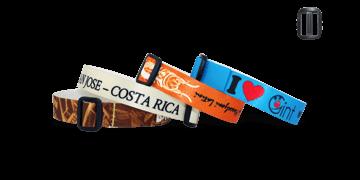 Braccialetti in tessuto Effetto Raso personalizzabili, chiusura riutilizzabile in plastica Roma