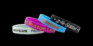 Braccialetti in silicone personalizzabili, Misura adulto, Stampa a 1 colore