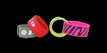 Braccialetti Rollband in silicone personalizzabili, 25 x 230 mm