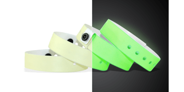 Braccialetti neutri in vinile, 19 mm, Glow In The Dark (fosforescenti)