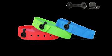 Braccialetti in tessuto senza personalizzazione, chiusura rotonda a clip in plastica / Modello Nice (articoli di magazzino)