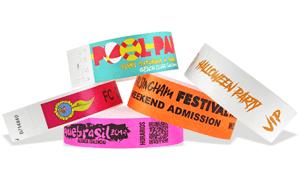 feste 200 pezzi | numerati Amazy Tyvek braccialetti festival e discoteca Bianco braccialetti identificativi di sicurezza per eventi